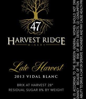 harvest ridge late vidal